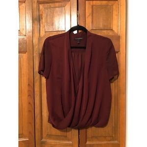 Maroon Swoop Blouse - Banana Republic